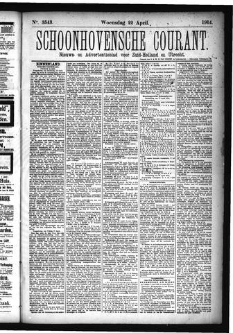 Schoonhovensche Courant 1914-04-22