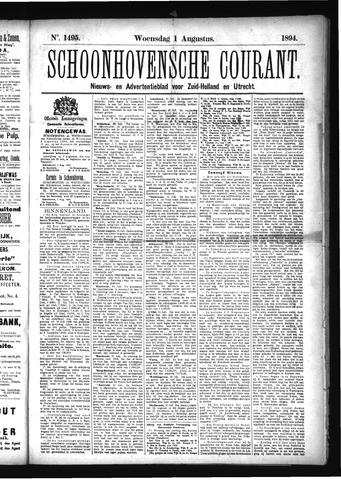 Schoonhovensche Courant 1894-08-01