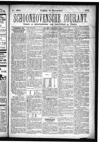 Schoonhovensche Courant 1914-12-25