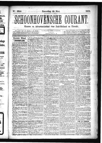 Schoonhovensche Courant 1912-05-25
