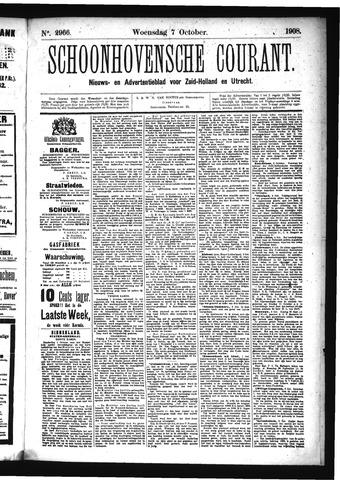 Schoonhovensche Courant 1908-10-07