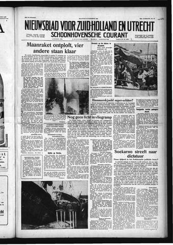 Schoonhovensche Courant 1958-08-18