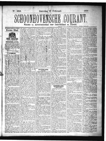 Schoonhovensche Courant 1912-02-17