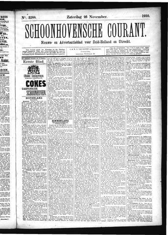 Schoonhovensche Courant 1910-11-26