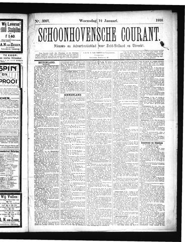 Schoonhovensche Courant 1910-01-12