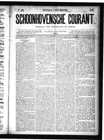 Schoonhovensche Courant 1876-11-05