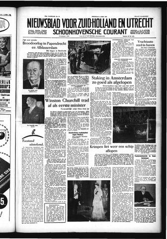 Schoonhovensche Courant 1955-04-06