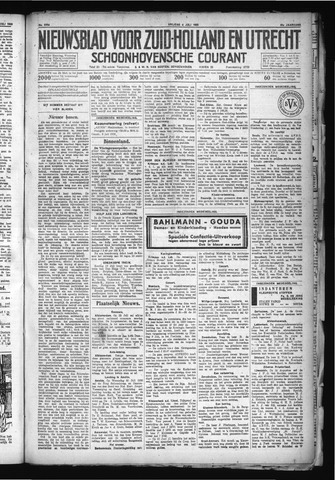 Schoonhovensche Courant 1930-07-04