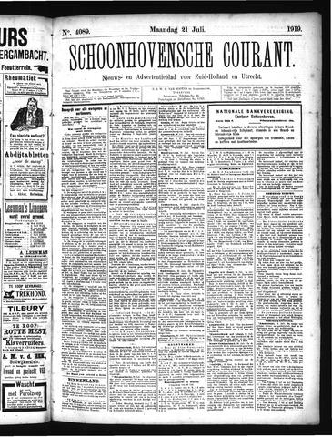 Schoonhovensche Courant 1919-07-21