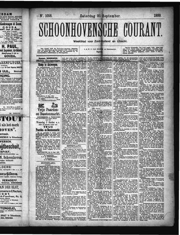Schoonhovensche Courant 1889-09-21