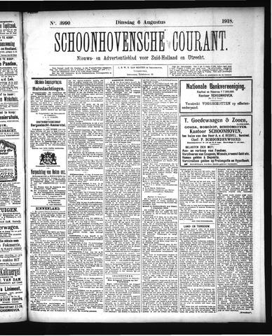 Schoonhovensche Courant 1918-08-06