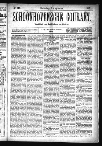 Schoonhovensche Courant 1885-08-08