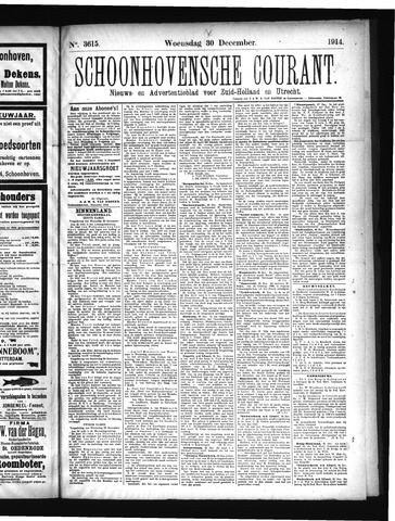 Schoonhovensche Courant 1914-12-30