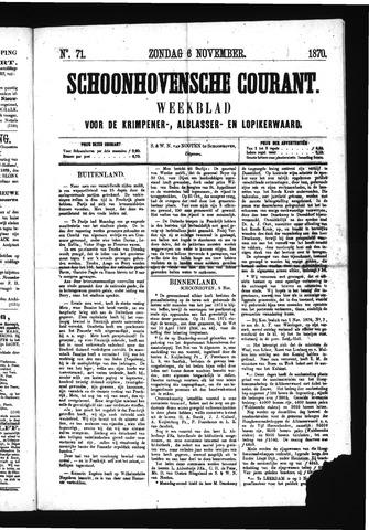 Schoonhovensche Courant 1870-11-06