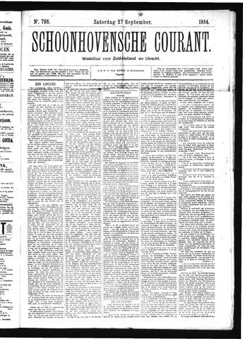 Schoonhovensche Courant 1884-09-27