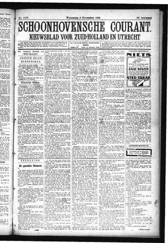 Schoonhovensche Courant 1926-11-03