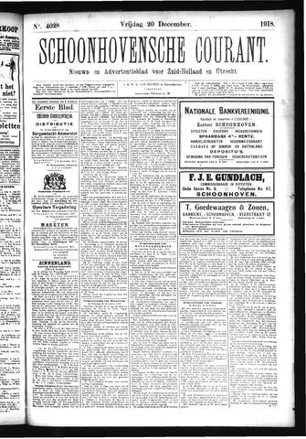 Schoonhovensche Courant 1918-12-20
