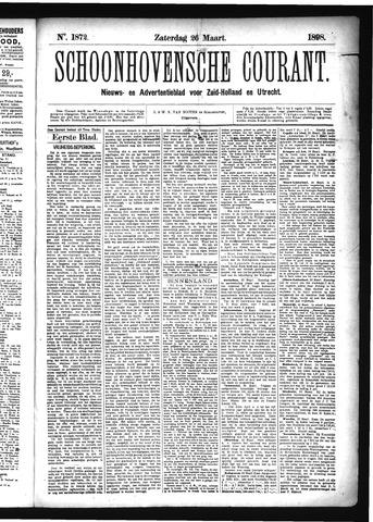 Schoonhovensche Courant 1898-03-26