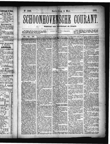 Schoonhovensche Courant 1889-05-04