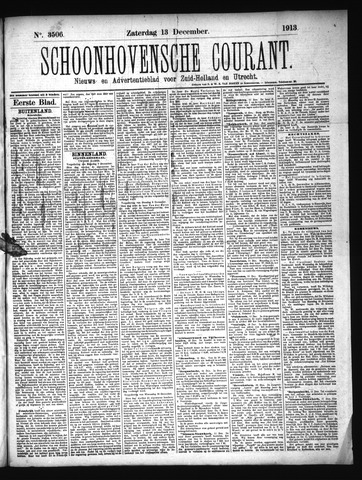 Schoonhovensche Courant 1913-12-13