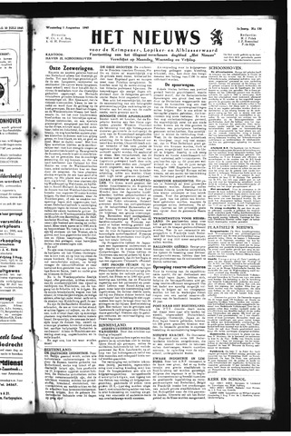 Schoonhovensche Courant 1945-08-01
