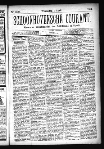 Schoonhovensche Courant 1914-04-01