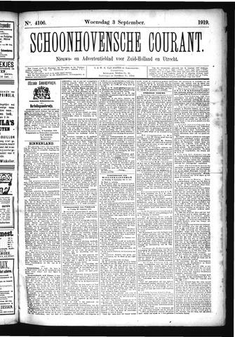 Schoonhovensche Courant 1919-09-03