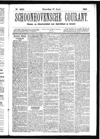 Schoonhovensche Courant 1905-06-17