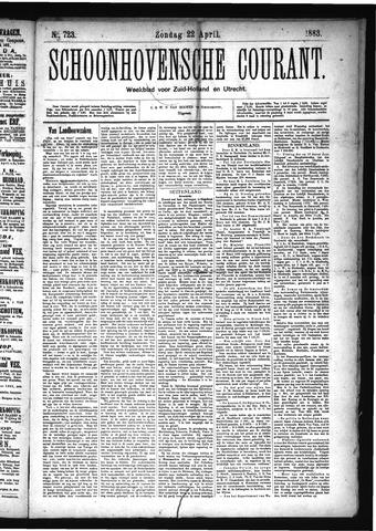 Schoonhovensche Courant 1883-04-22