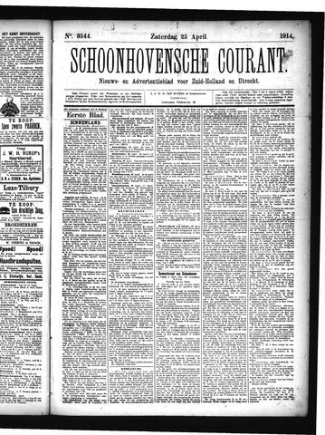 Schoonhovensche Courant 1914-04-25