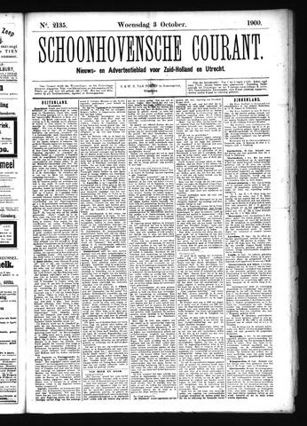 Schoonhovensche Courant 1900-10-03