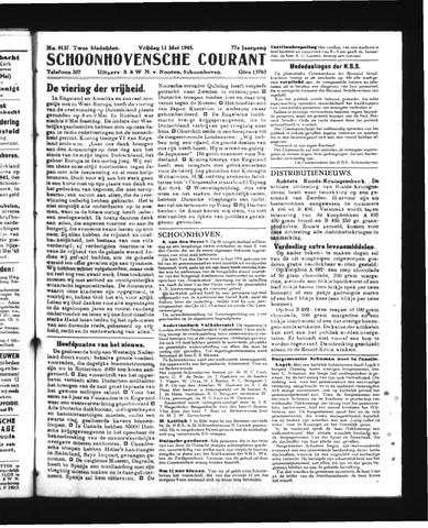 Schoonhovensche Courant 1945-05-11