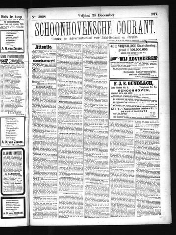 Schoonhovensche Courant 1917-12-28