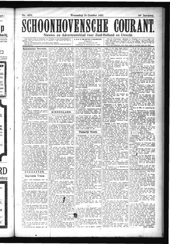 Schoonhovensche Courant 1922-10-18