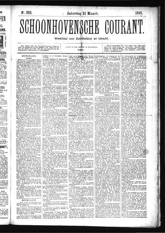 Schoonhovensche Courant 1885-03-21
