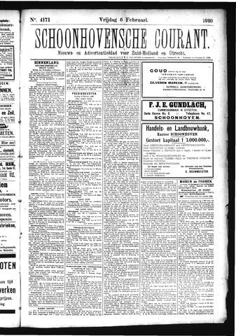 Schoonhovensche Courant 1920-02-06