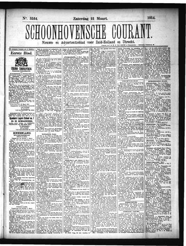 Schoonhovensche Courant 1914-03-21