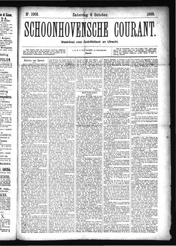 Schoonhovensche Courant 1888-10-06