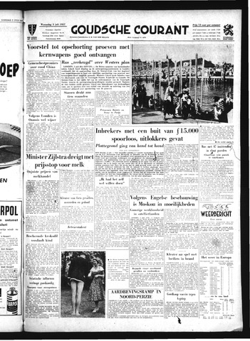 Goudsche Courant 1957-07-03