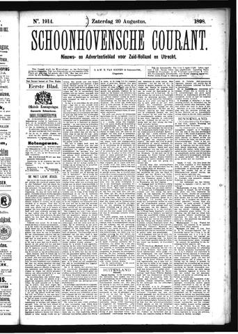 Schoonhovensche Courant 1898-08-20