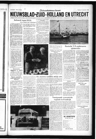 Schoonhovensche Courant 1962-09-17