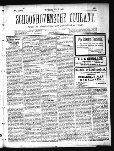 Schoonhovensche Courant 1920-04-23