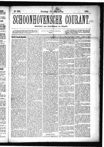 Schoonhovensche Courant 1881-08-21