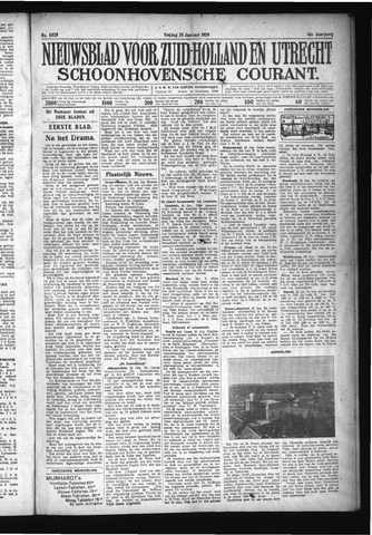 Schoonhovensche Courant 1929-01-25