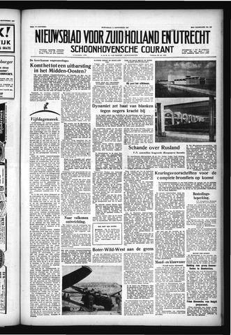 Schoonhovensche Courant 1957-09-11