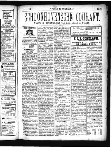Schoonhovensche Courant 1919-09-19