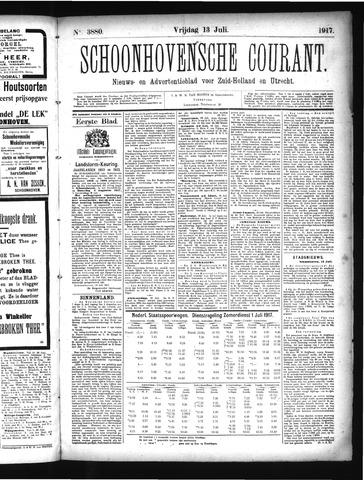 Schoonhovensche Courant 1917-07-13