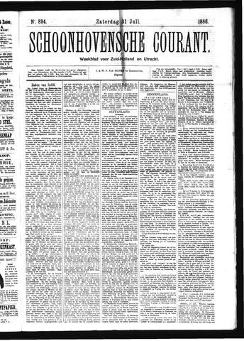 Schoonhovensche Courant 1886-07-31