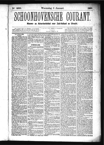 Schoonhovensche Courant 1908-01-08