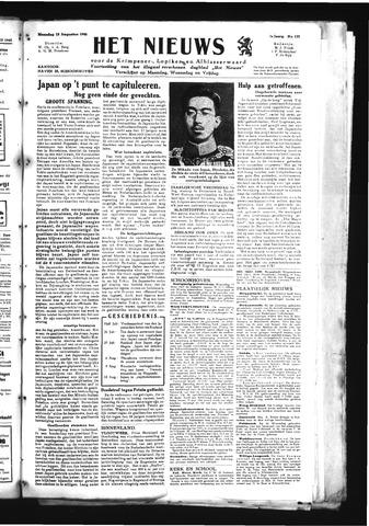 Schoonhovensche Courant 1945-08-13
